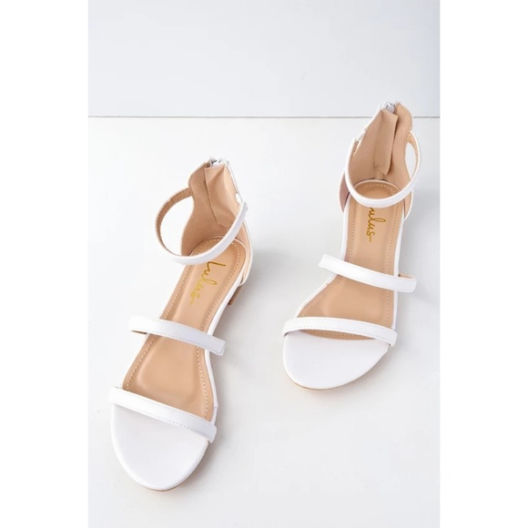 bb12385944f13 Lulu's Shoes | Quin White Flat Lulus Sandals | Poshmark